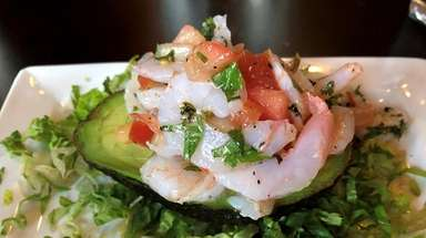 Shrimp avocado, an appetizer at the new Melissa's