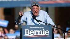 Presidential hopeful Sen. Bernie Sanders (I-Vt.) speaks during