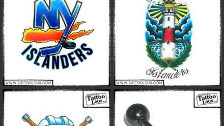Tattoo Lou's designs for Islanders hockey club --