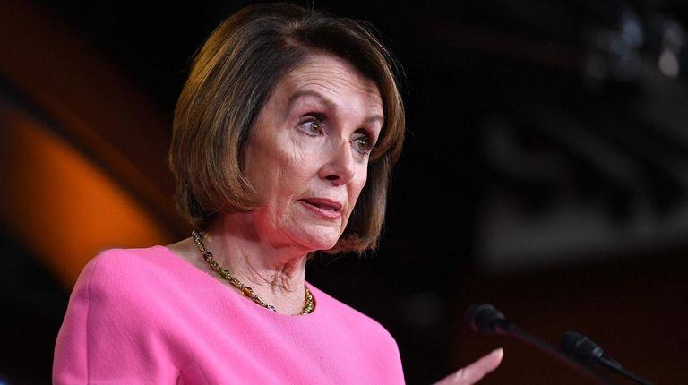 House Speaker Nancy Pelosi (D-Calif.) speaks during her