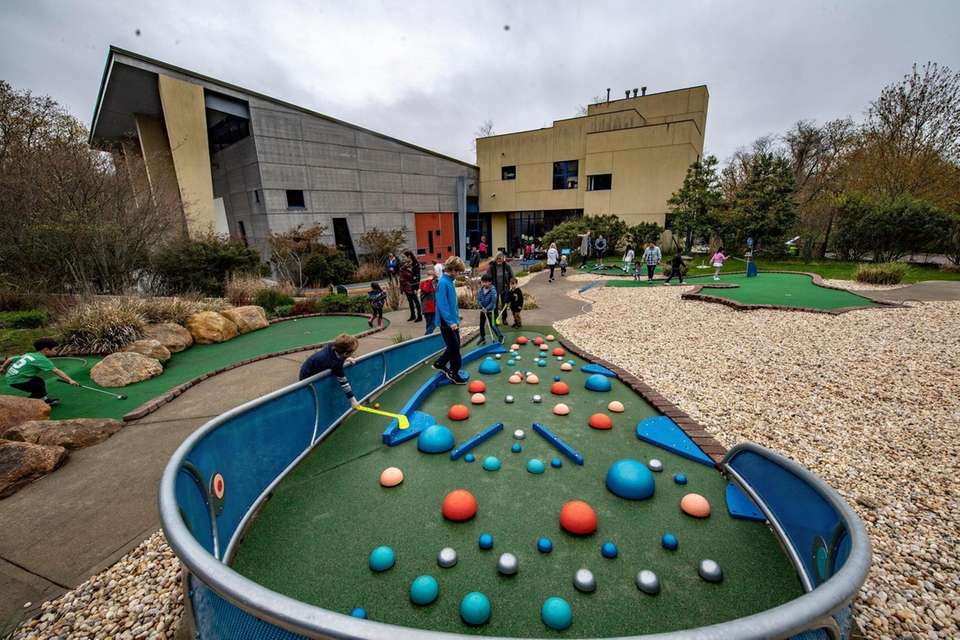 A miniature golf course at the Children's Museum