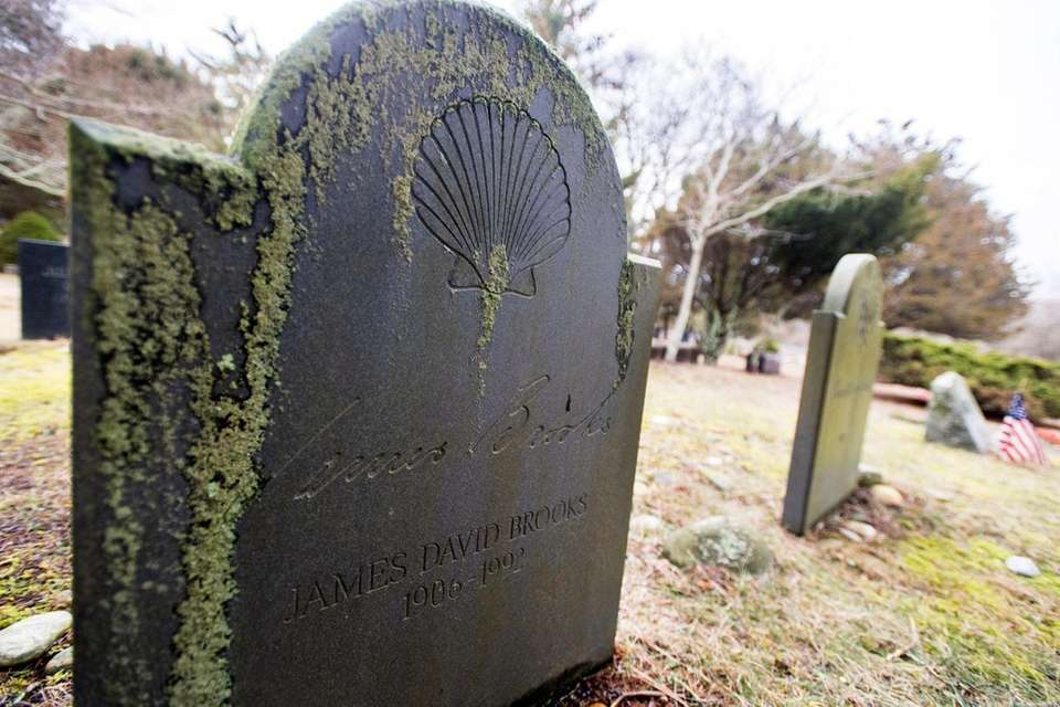 The gravestones of artists James Brooks and his