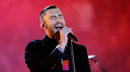 Adam Levine of Maroon 5 performs at Super