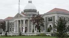 The Nassau County Legislature building in Mineola.