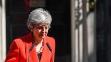 Theresa May, U.K. prime minister, delivers a speech