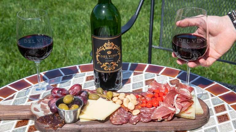 Food offerings at Del Vino Vineyards in Northport