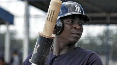 Yankees shortstop Didi Gregorius waits in the on-deck