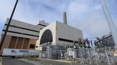 The Covanta plant in Hempstead generates electricity from