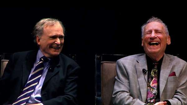 Dick Cavett and Mel Brooks in