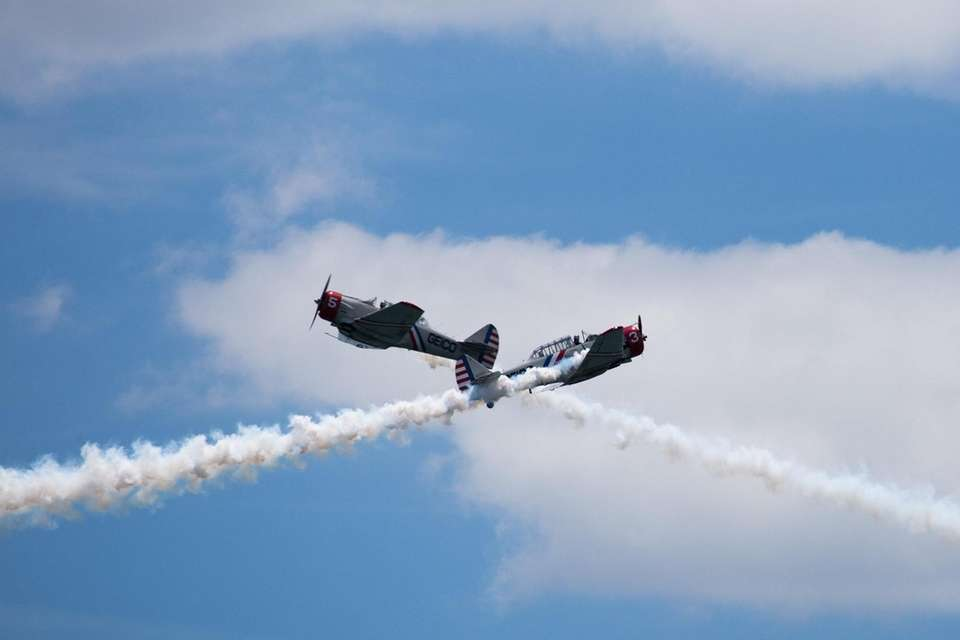 The GEICO Skytypers take to the sky during