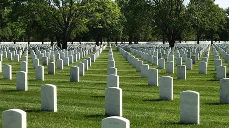 Long Island National Cemetery at Pinelawn in May