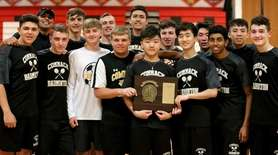 The Commack boys team poses with the Suffolk