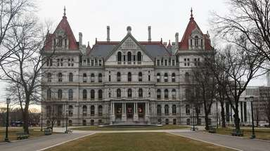 The State Capitol building in Albany on Jan.