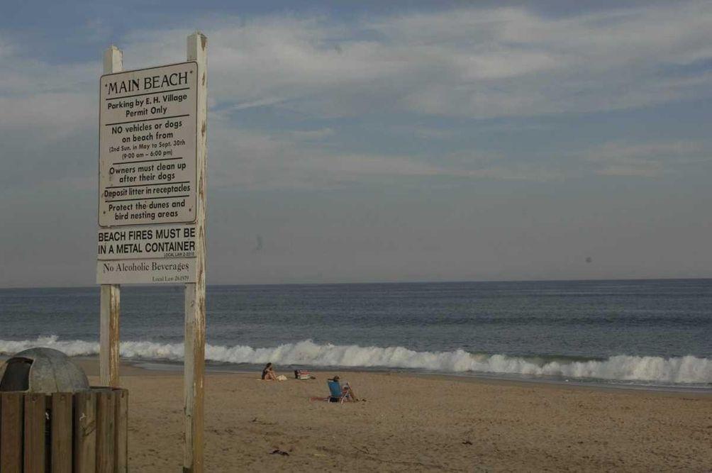 Main Beach in East Hampton Village as seen