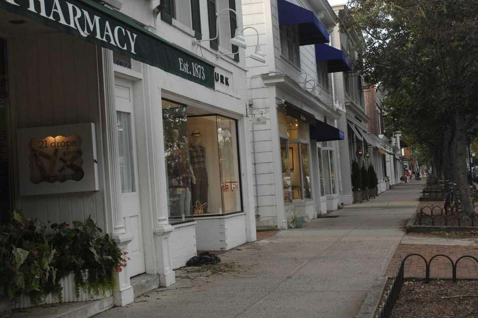 Main Street in East Hampton Village on Sept.