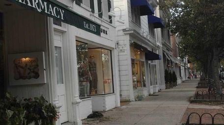 Main Street in East Hampton Village on Sept.