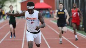 Malverne's Jordan Graham wins the boys 400-meter dash