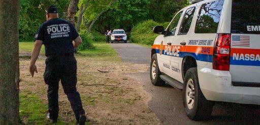 Nassau County police investigate at the Massapequa Preserve
