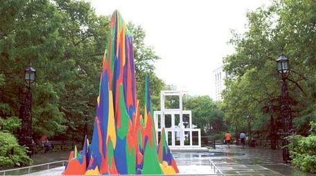 Sol LeWitt public art at City Hall Park