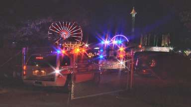 Emergency vehicles at the Brookhaven Fair in Medford