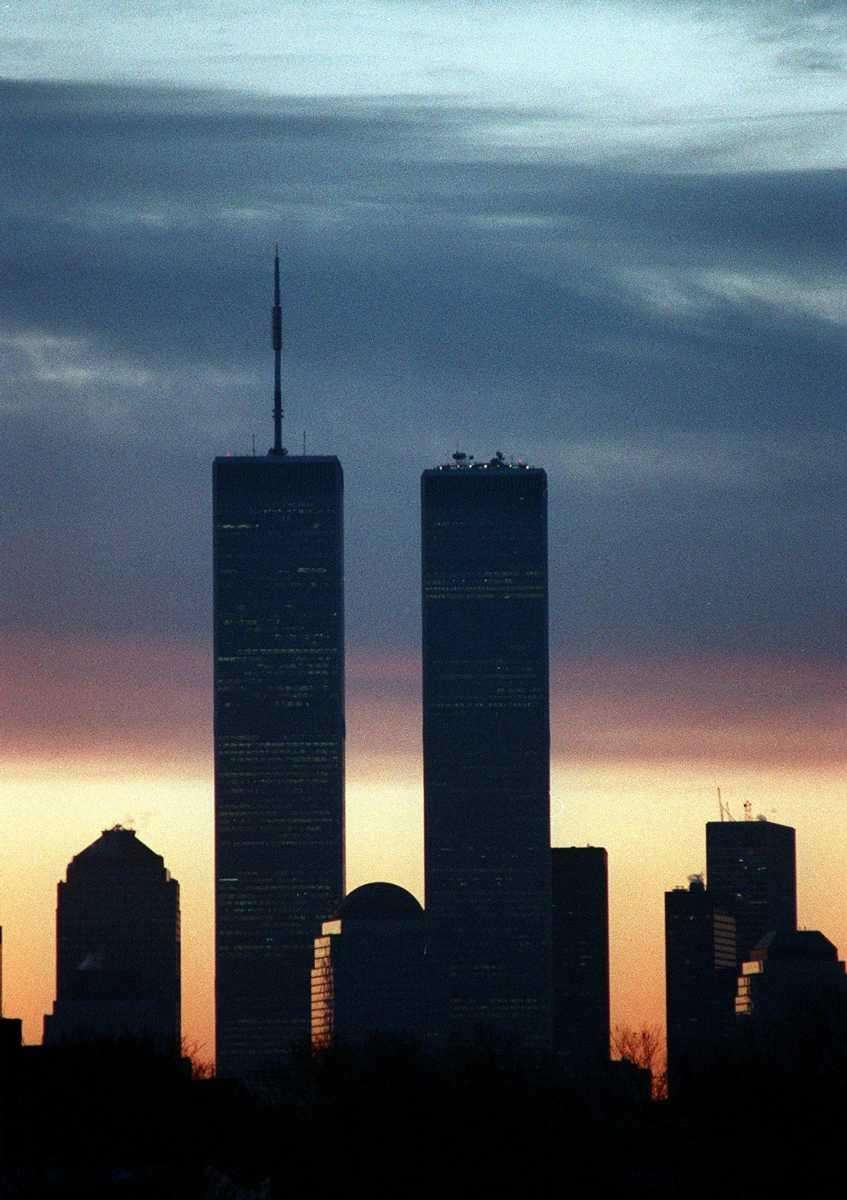 Dawn breaks over the World Trade Center on