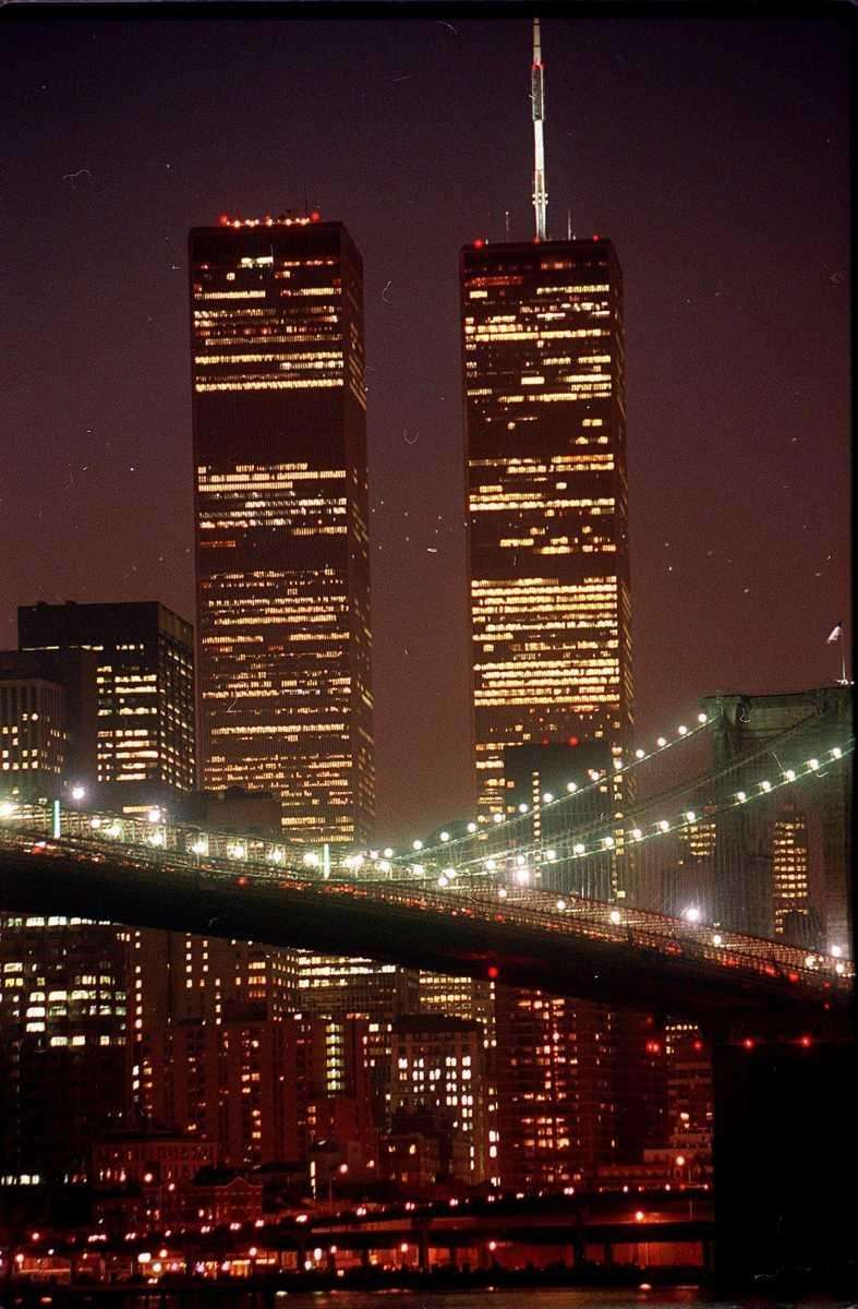 An undated photo of the World Trade Center.