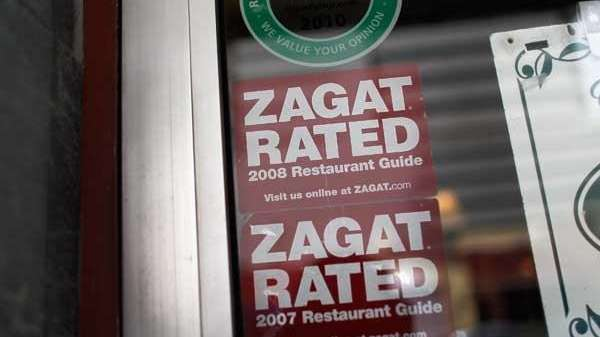 A file photo of a Zagat sign.