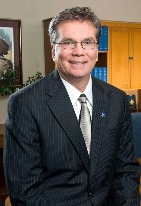 Donald P. Astrab, president of Nassau Community College,