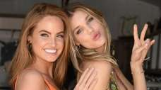Sports Illustrated model Haley Kalil and model Joy