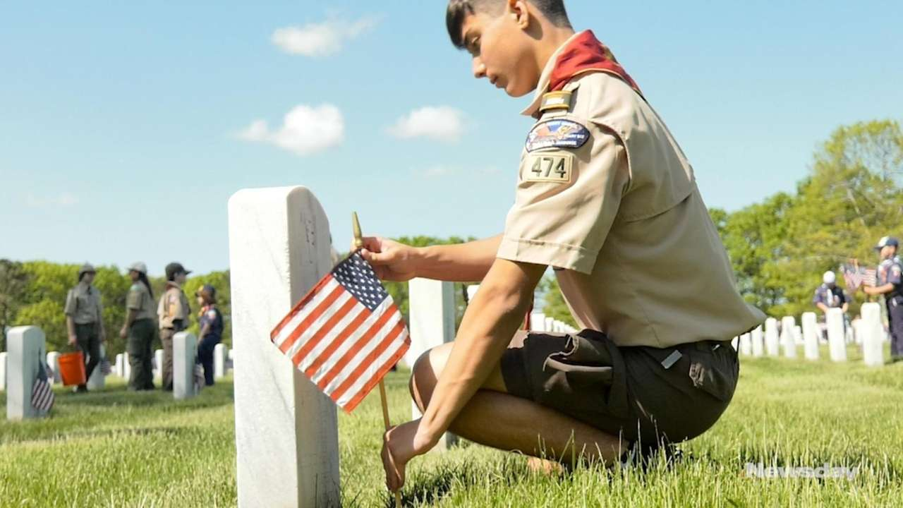 Volunteers descended upon Calverton National Cemetery on Saturday