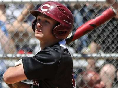 Tyler Cox of Clarke watches his double sail