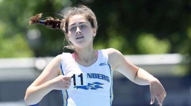 Kellenberg's Maureen Lewin wins the girl's 800 meter