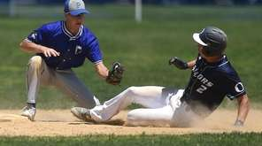 Jake Lazzaro #2 of Oceanside, right, gets called