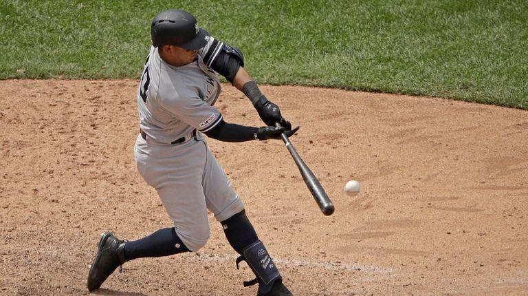Thairo Estrada von New York Yankees schießt zwei Treffer