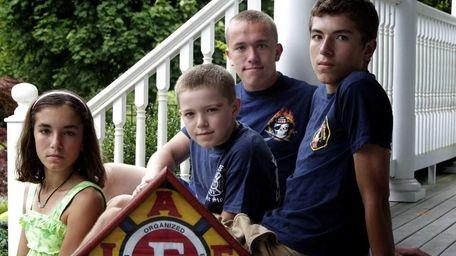 From left, Kelsey, 13, Sean, 9, Andrew Jr.,