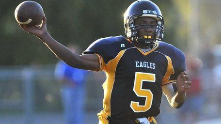 West Babylon High School quarterback #5 Clifton Melhado