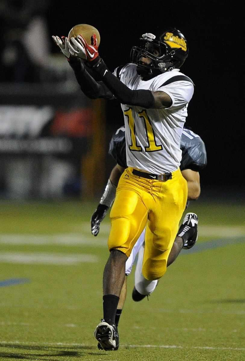Uniondale's Kenny Woodward makes the reception and runs