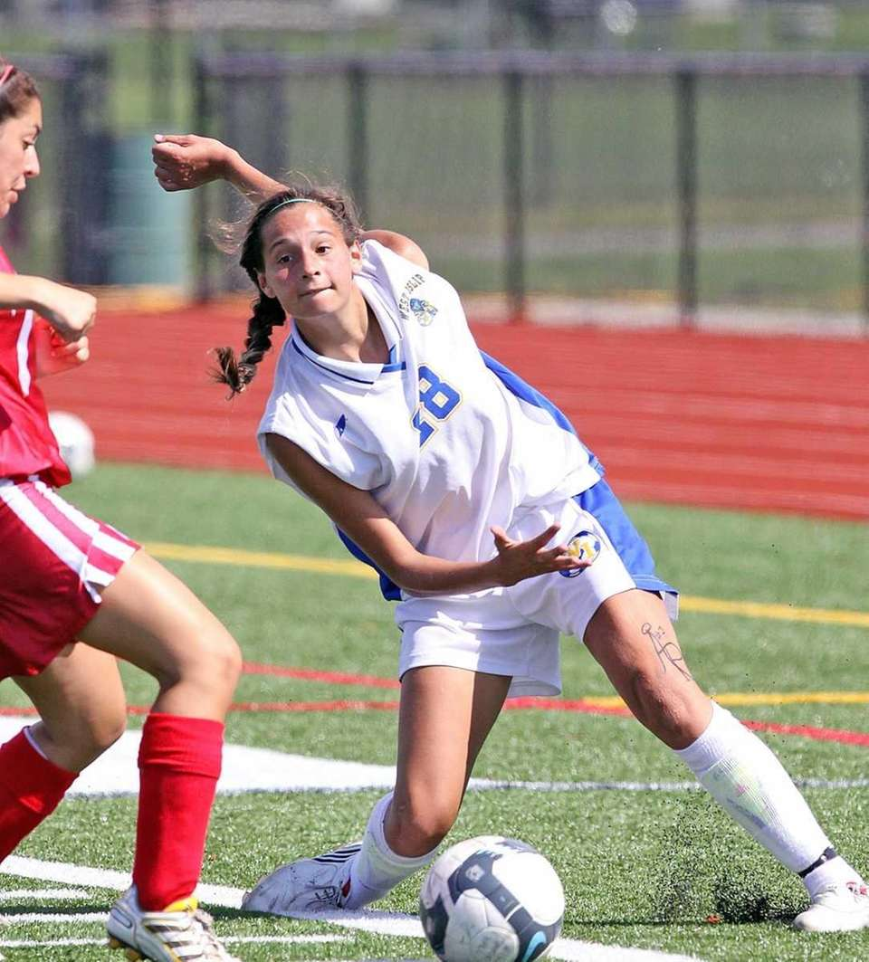 West Islip's Amanda Martinez, who scored two goals