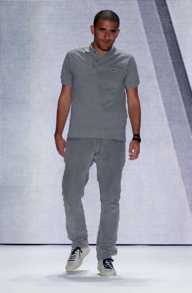 Creative manager of Lacoste Felipe Oliveira Baptista walks