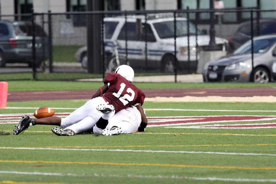 After Sachem North's Trent Crossan intercepted a ball