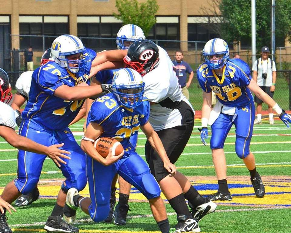 West Islip's Mike Cestaro breaks free for a
