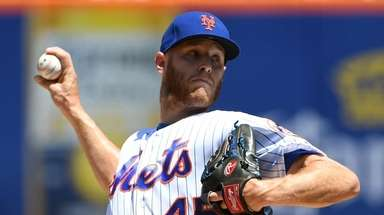 Mets starting pitcher Zack Wheeler allowed three runs,