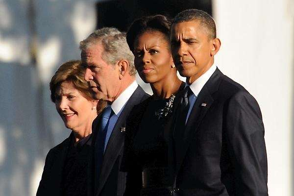 Former first lady Laura Bush, former President George