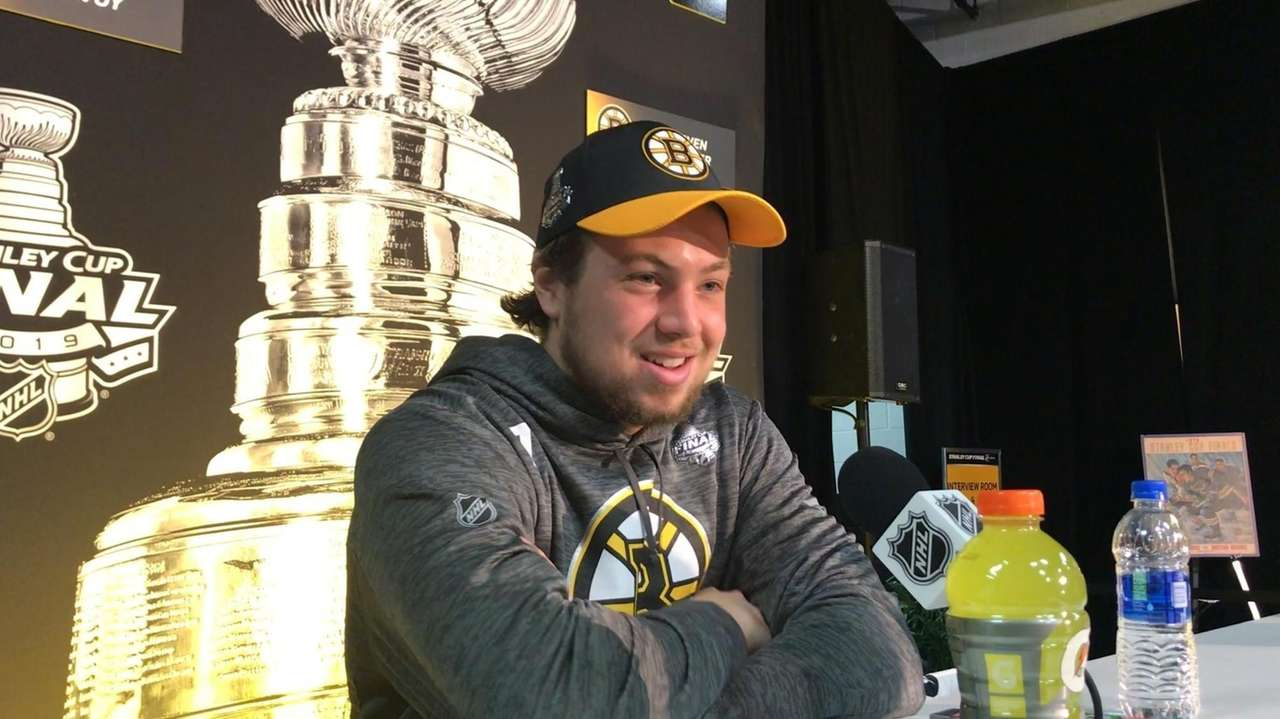 Bruins defenseman Charlie McAvoy, from Long Beach, will