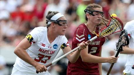 Erica Evans #33 of Maryland Terrapins and Sam