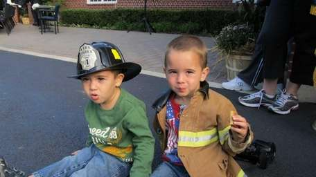 Nicholas, 2, and Andrew Foundos, 4, of Melville,