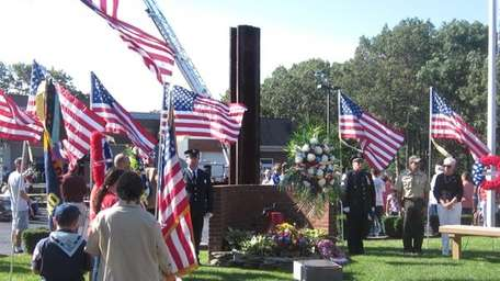Hundreds attended a service at the Bohemia Fire