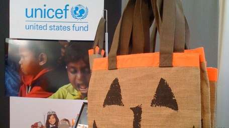 This FEED Trick-or-Treat bag, designed by Lauren Bush,
