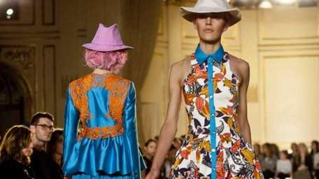 The Thakoon Spring 2012 collection is modeled Sunday,