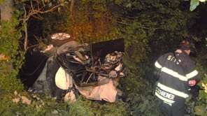 A three-car accident early Sunday left an off-duty